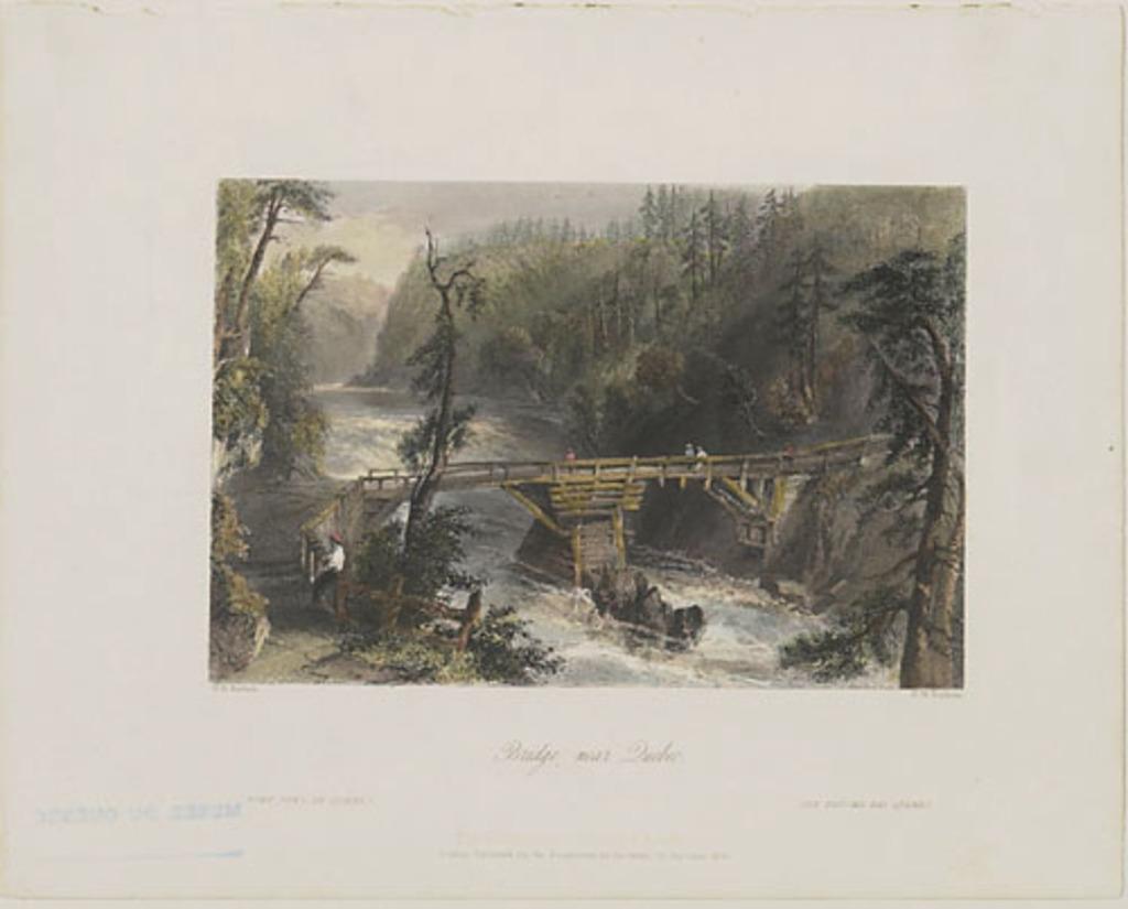 Un pont près de Québec, extrait du Canadian Scenery Illustrated, vol. I