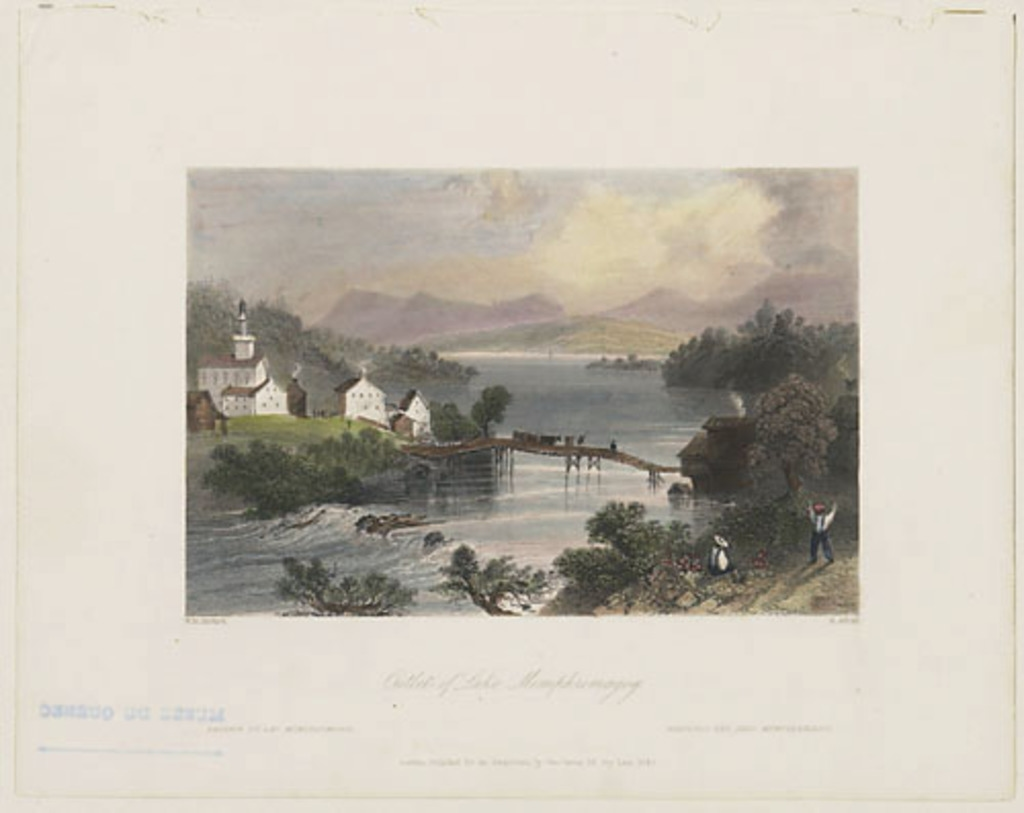 Passage du lac Memphrémagog, extrait du Canadian Scenery Illustrated, vol. II