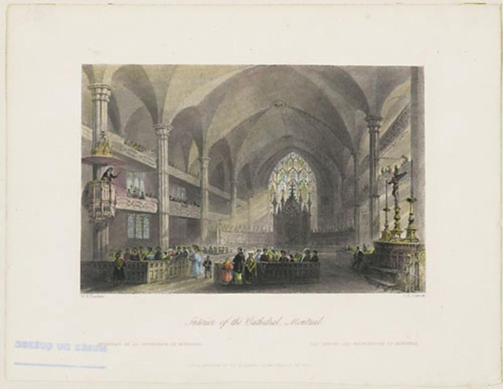 Intérieur de la cathédrale, Montréal, extrait du Canadian Scenery Illustrated, vol. II