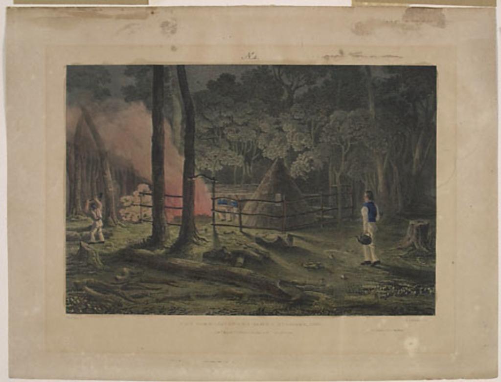 Le Camp des commissaires à Stanley, 1835