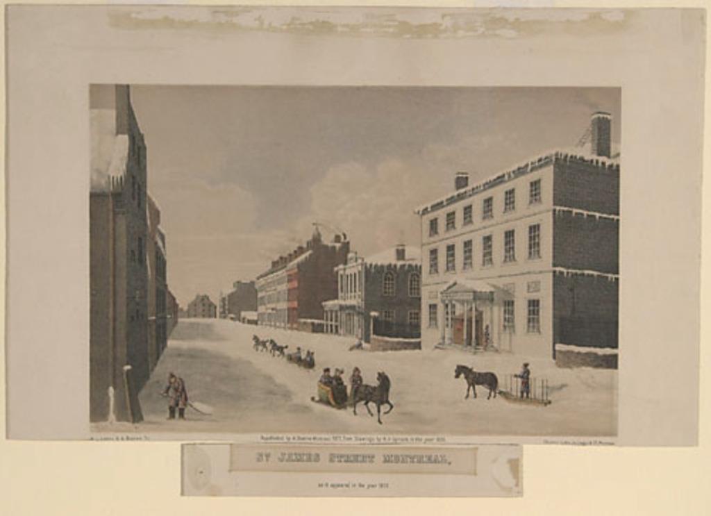 La Rue Saint-Jacques à Montréal en 1830