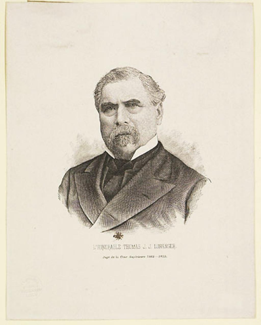 L'Honorable Thomas Jean Jacques Loranger, extrait de l'Histoire des Canadiens-Français, 1608-1880