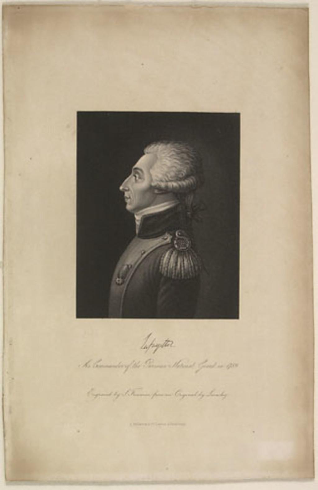 La Fayette en commandant de la Garde nationale parisienne en 1789