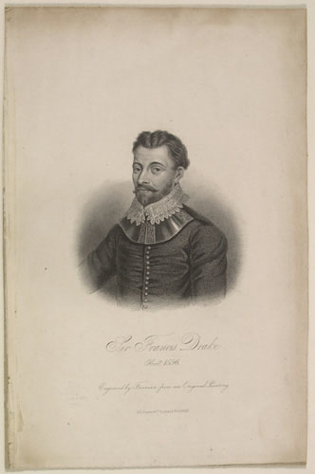 Sir Francis Drake, planche 1 extraite de l'ouvrage Lives of Eminent and Illustrious Englishmen, from Alfred the Great to the Latest Times, vol. II, de George Godfrey Cunningham