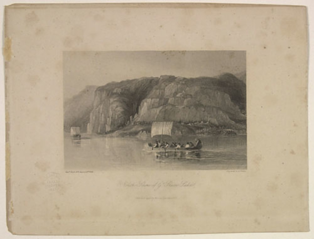Rive nord du lac Great Slave, extrait de l'ouvrage Narrative of the Arctic land expedition to the mouth of the Great Fish River de George Back