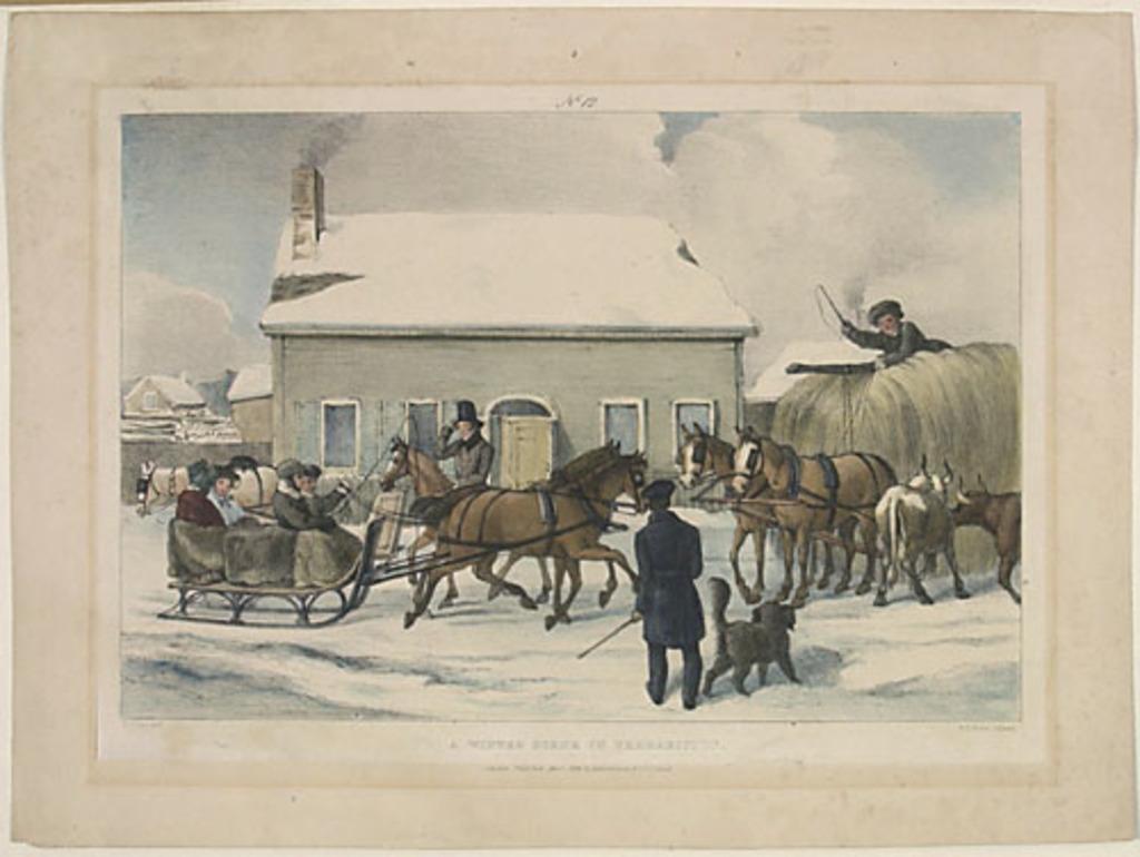 Scène d'hiver à Fredericton, Nouveau-Brunswick