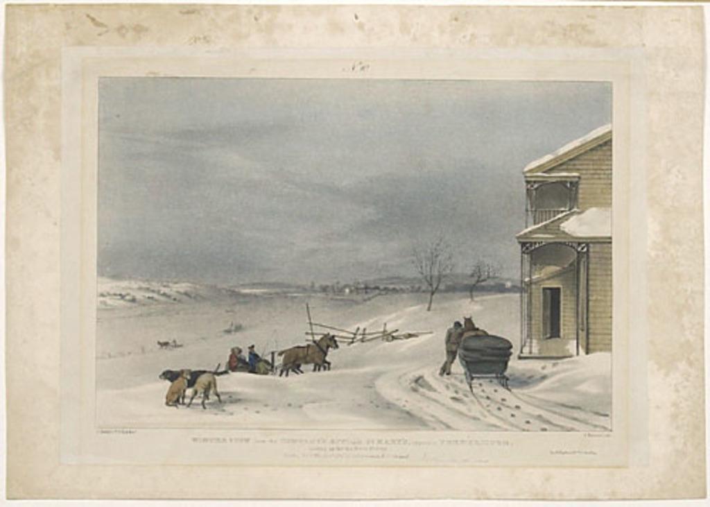 Vue hivernale à partir du bureau de la compagnie St. Mary's en face de Fredericton, en amont de la rivière Saint-Jean, au Nouveau-Brunswick
