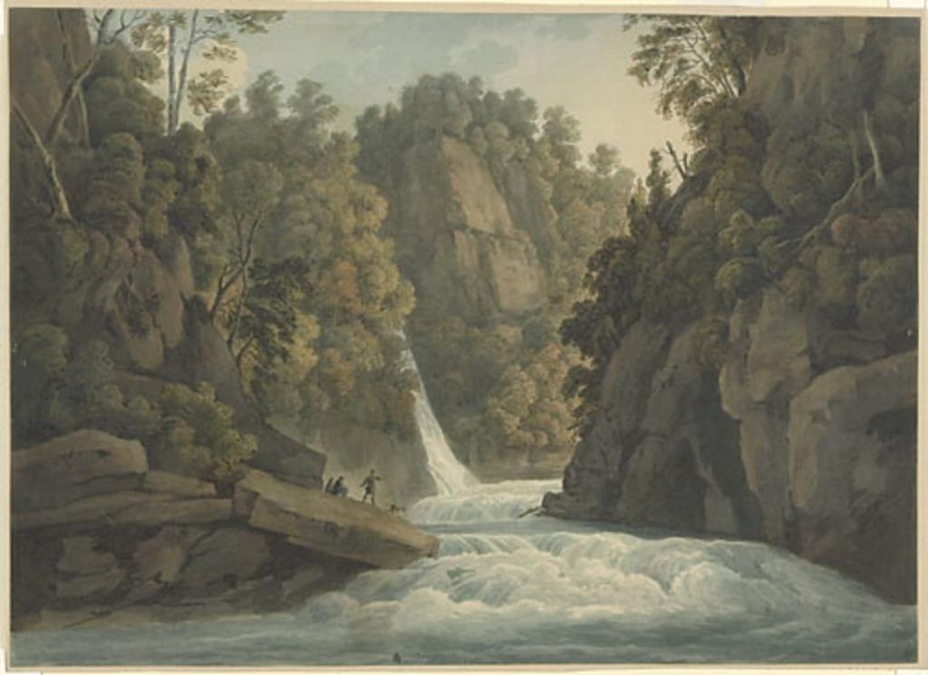 Vue des chutes de la rivière Sainte-Anne (sans la lettre)