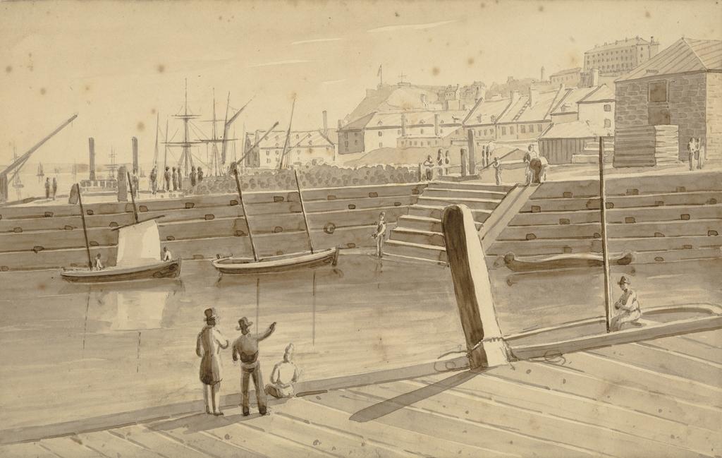 Québec vu du quai de John Goudie
