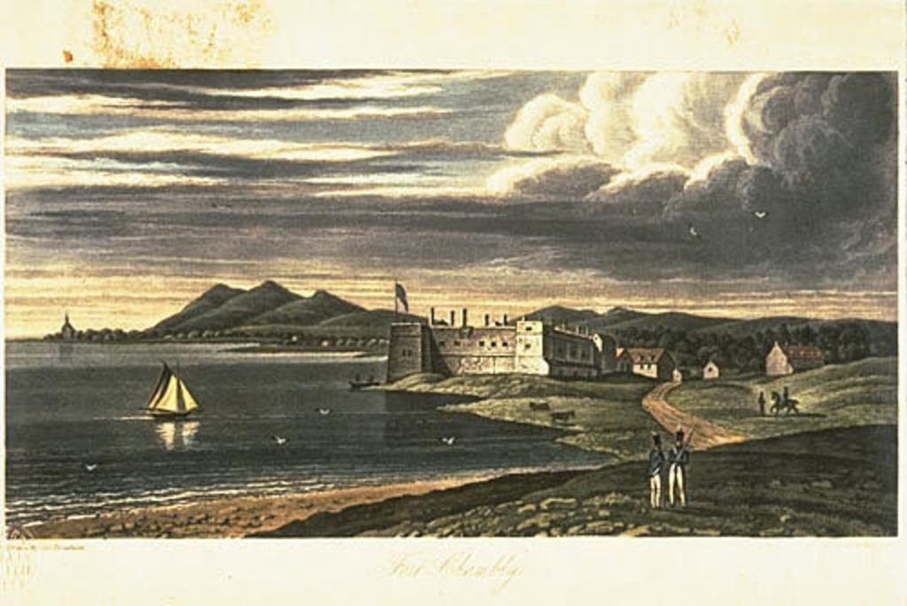 Le Fort Chambly et une portion du grand campement de 1814, extrait de l'ouvrage Description topographique de la province du Bas-Canada ou The British Dominions in North America, de Joseph Bouchette, père