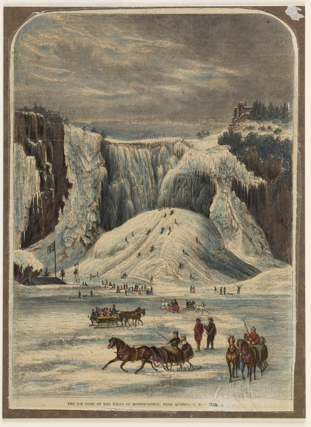 Le Cône de glace de la chute Montmorency, extrait d'un journal