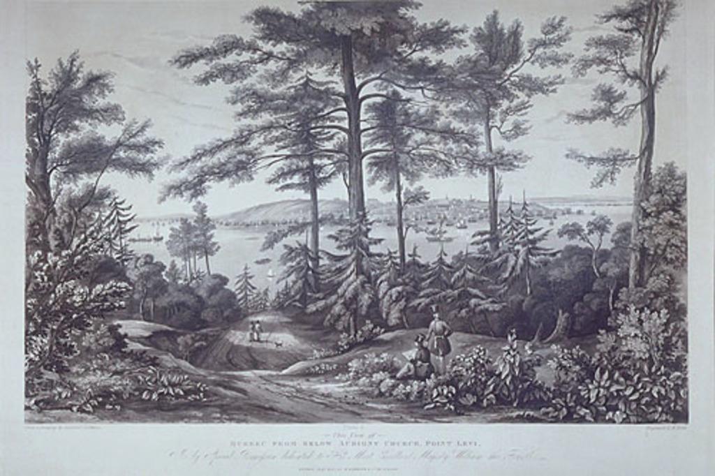 Québec vu en contrebas de l'église d'Aubigny à la pointe De Lévy
