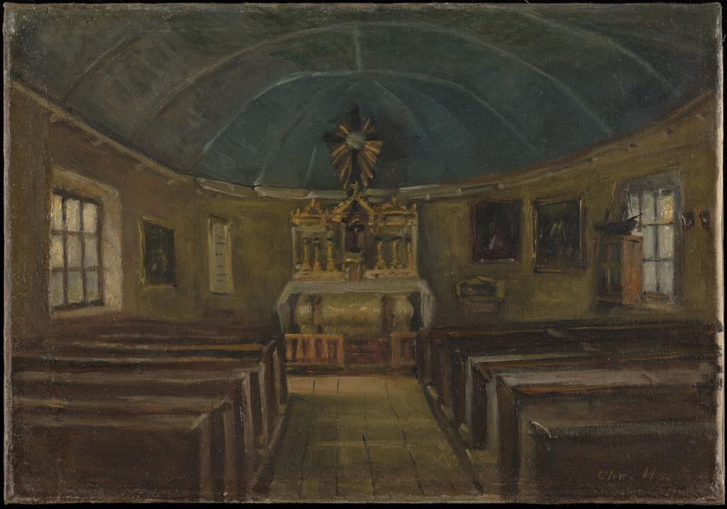Intérieur de la chapelle de Tadoussac