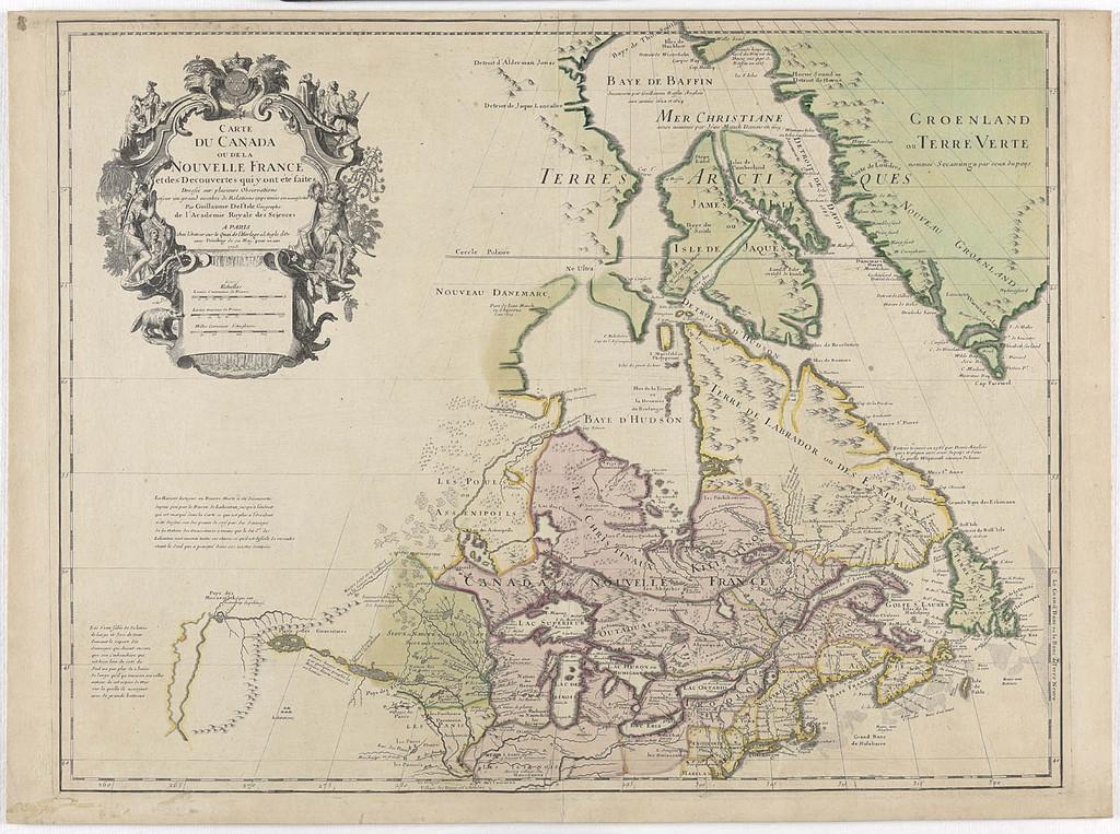 Carte du Canada ou de la Nouvelle-France et des découvertes qui y ont été faites