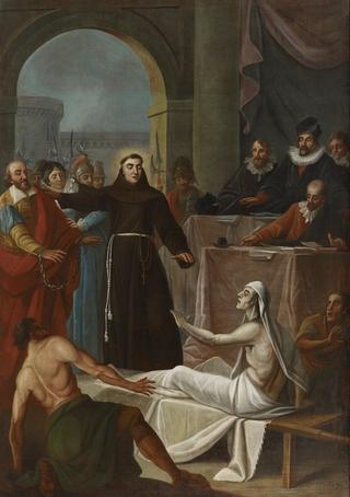 La Résurrection d'un mort par saint Antoine de Padoue afin d'innocenter ses parents