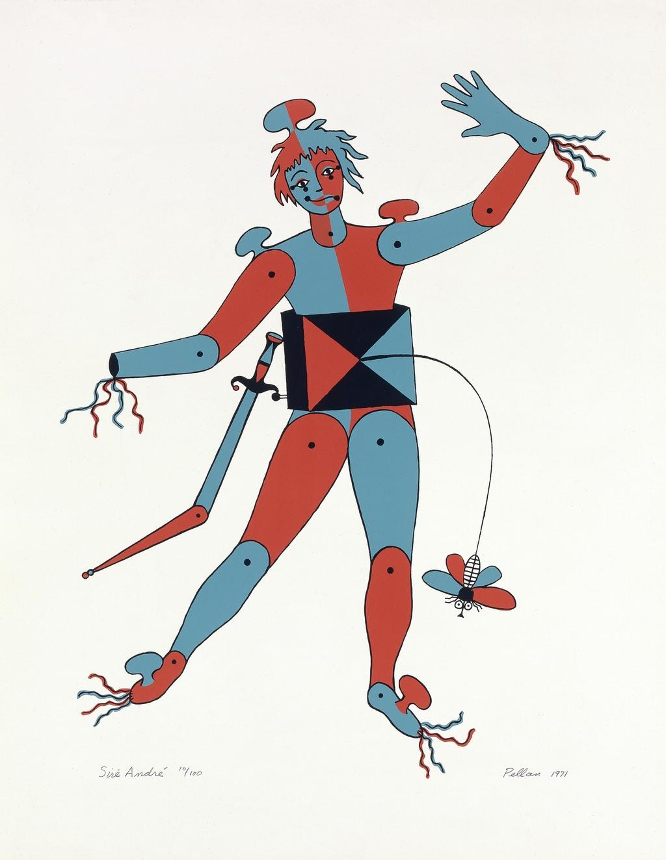 Sire André, du livre d'artiste «Sept Costumes et un décor pour ''La Nuit des Rois'' de Shakespeare»