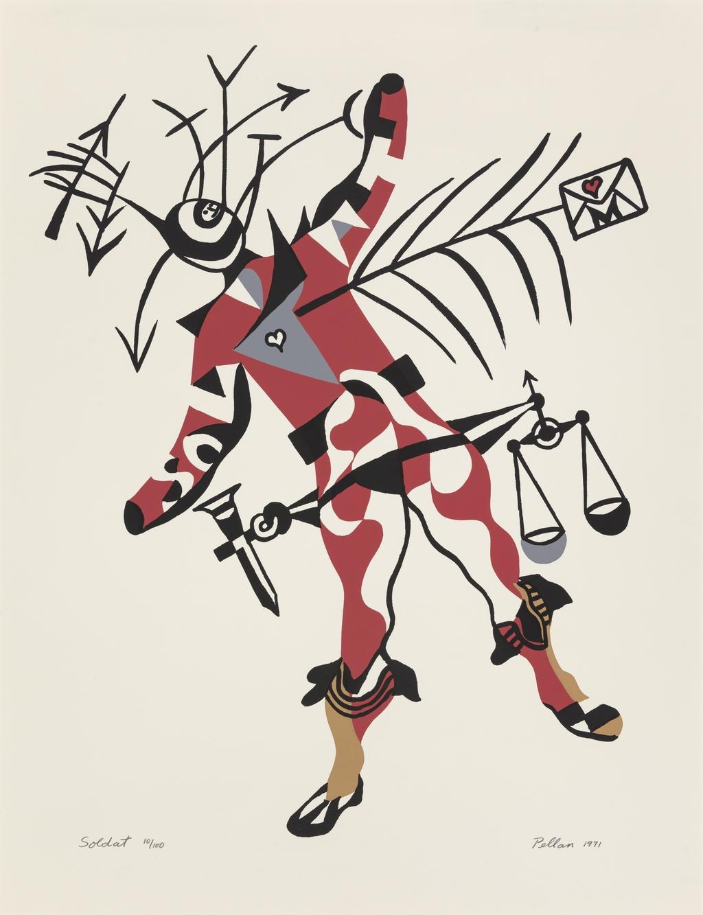 Soldat, du livre d'artiste «Sept Costumes et un décor pour ''La Nuit des Rois'' de Shakespeare»
