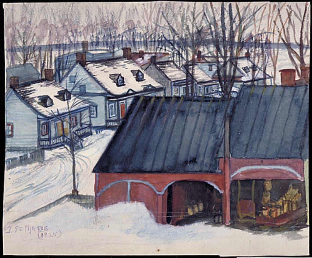 Hangars de l'épicerie Sainte-Marie et bas de la rue Saint-Jacques