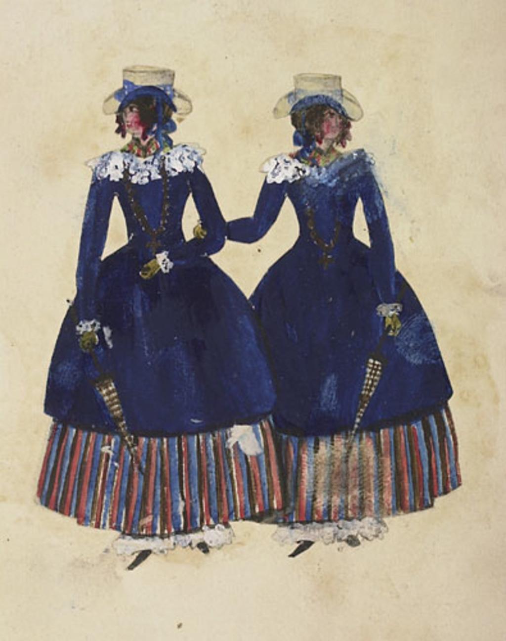 Deux Jumelles, de l'album du capitaine Frederick Stevenson