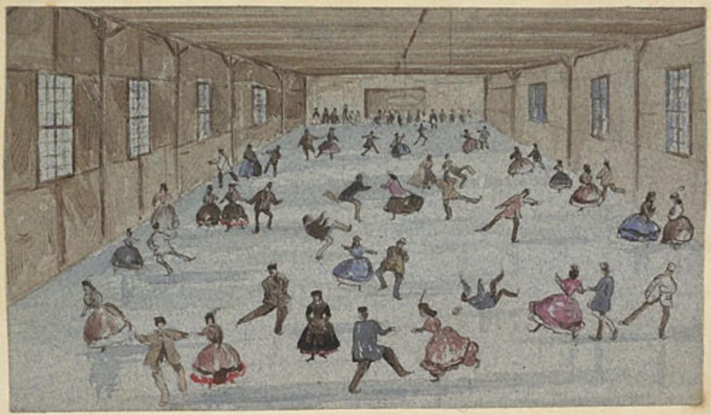 L'Aréna à Montréal, de l'album du capitaine Frederick Stevenson