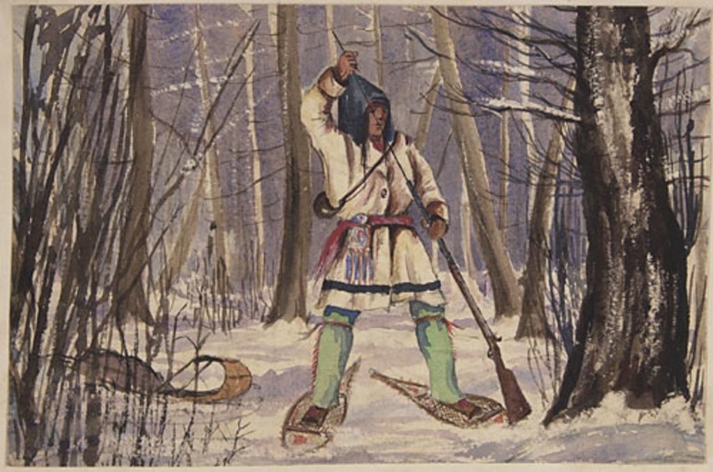 Indien à la chasse à l'orignal, de l'album du capitaine Frederick Stevenson