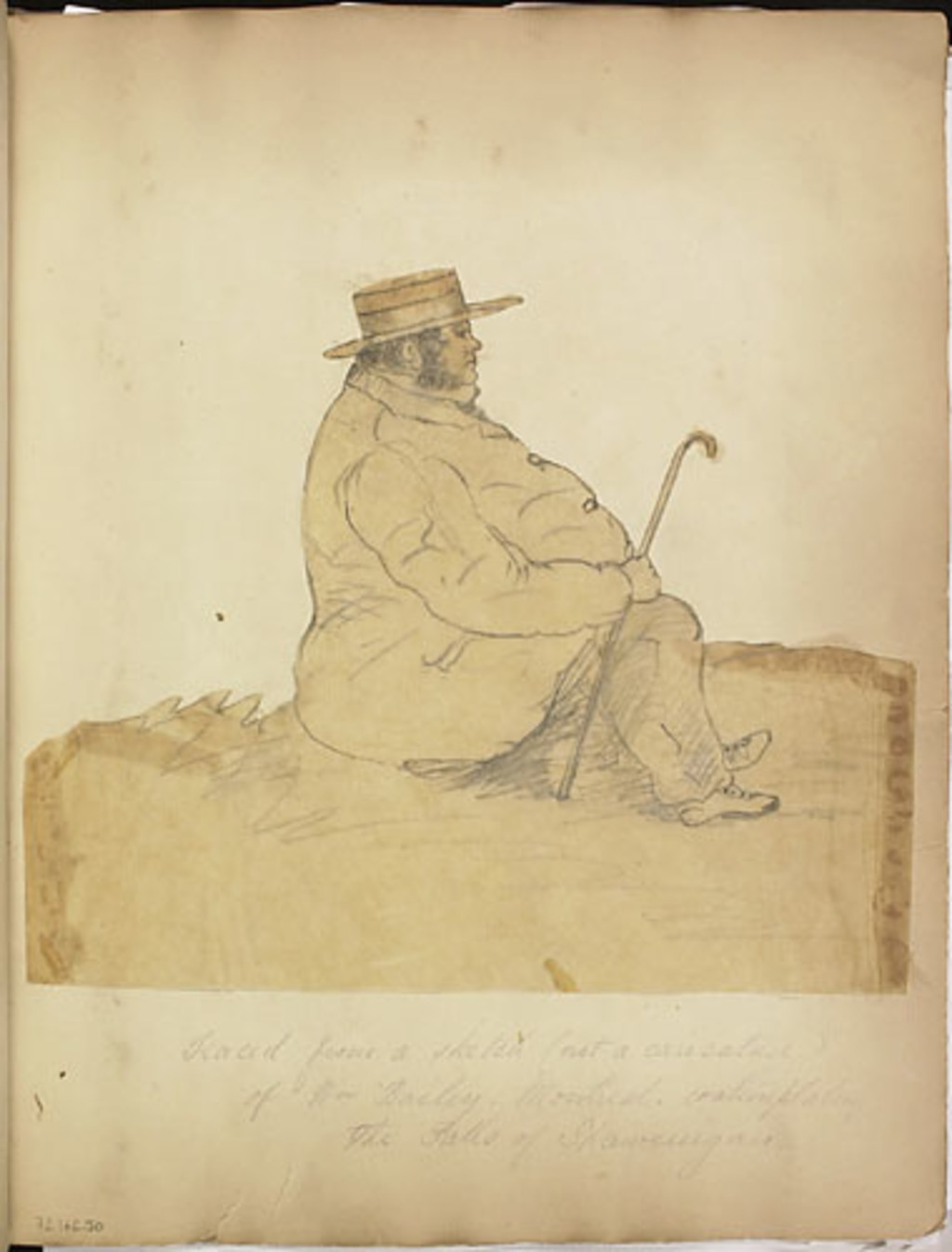 Mr Bailey de Montréal contemplant les chutes de Shawinigan, de l'album du capitaine Frederick Stevenson