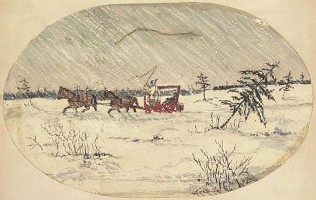Traîneau dans une tempête, de l'album du capitaine Frederick Stevenson