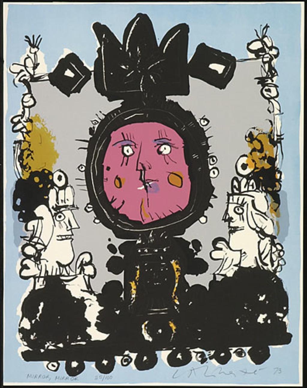 Mirror, Mirror, du livre d'artiste «Demi-douzaine Les Aventures de Jumping Jack ou toujours un peu plus à gauche mais rapidement»