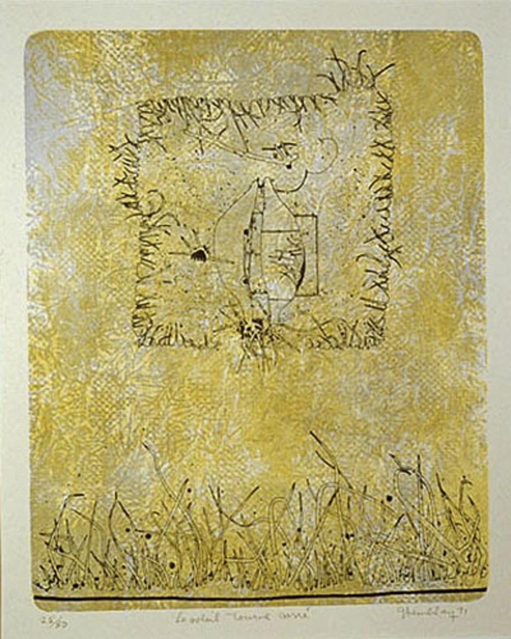 Le soleil tourne carré, du livre d'artiste «Hommage à Albert Dumouchel»