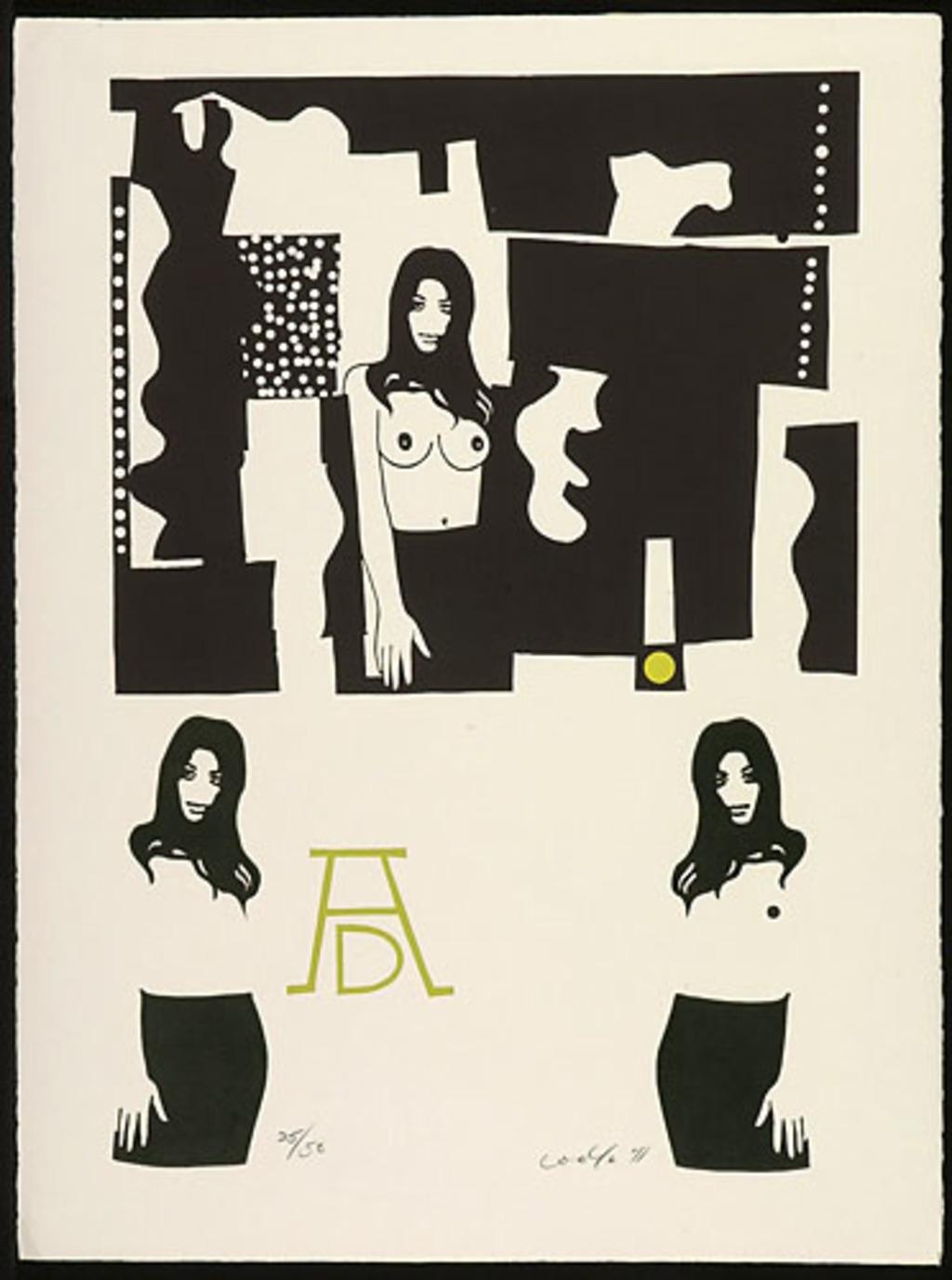 Sans titre, du livre d'artiste «Hommage à Albert Dumouchel»