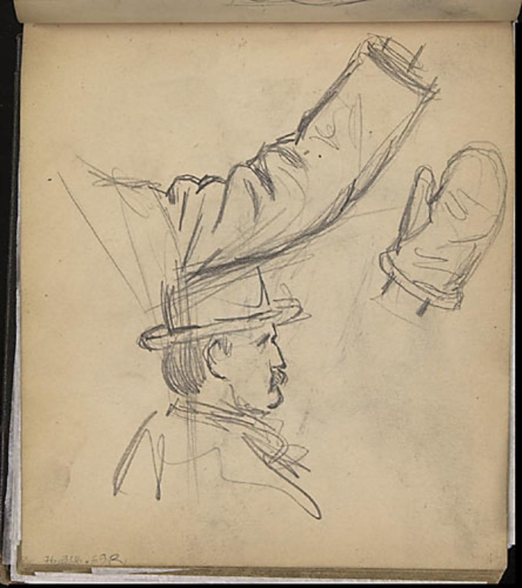 Portrait d'homme et études (bras et main) pour « Le Mardi gras à la campagne » (1911)