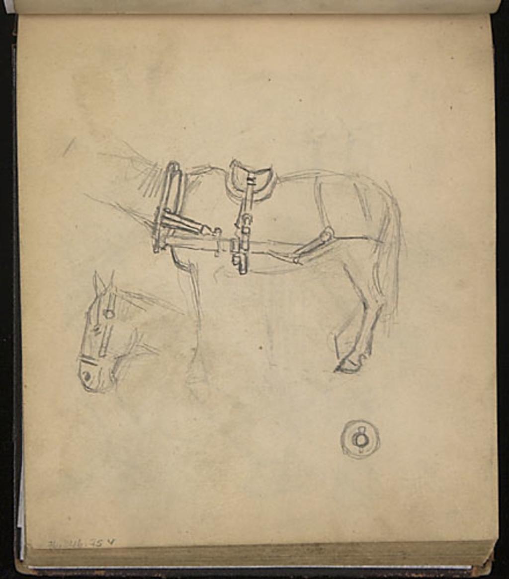 Études d'un cheval et de son attelage, pour « La Fenaison au Canada »
