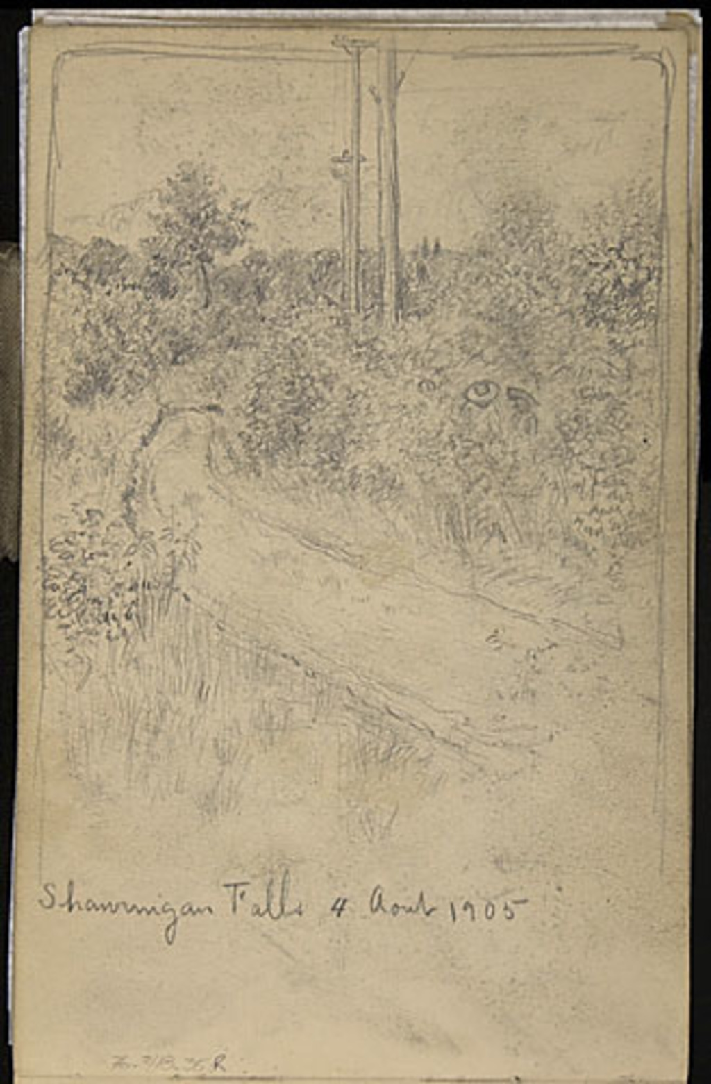 Chemin dans les bosquets, à Shawinigan Falls