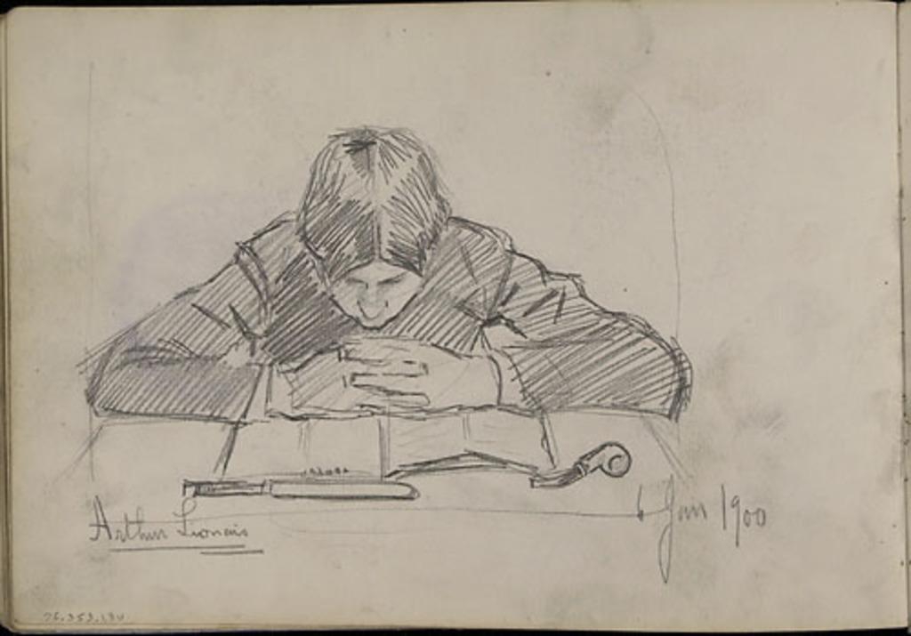 Arthur Lyonnais lisant