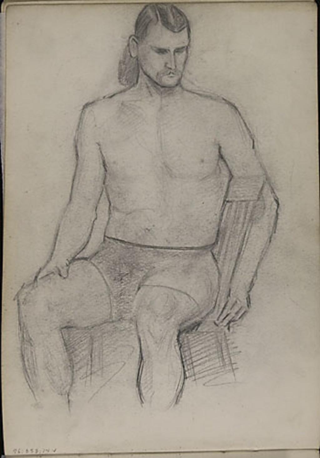 Homme au maillot (étude d'atelier)