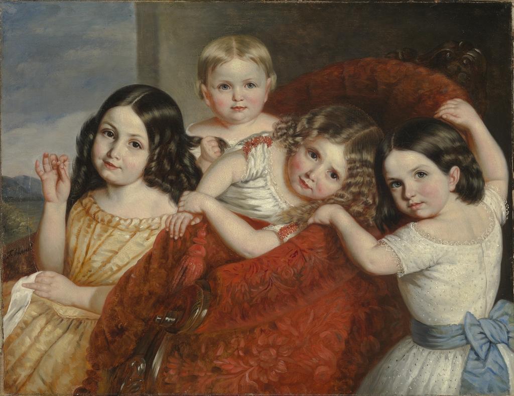 Noémie, Eugénie, Antoinette et Séphora Hamel, nièces de l'artiste