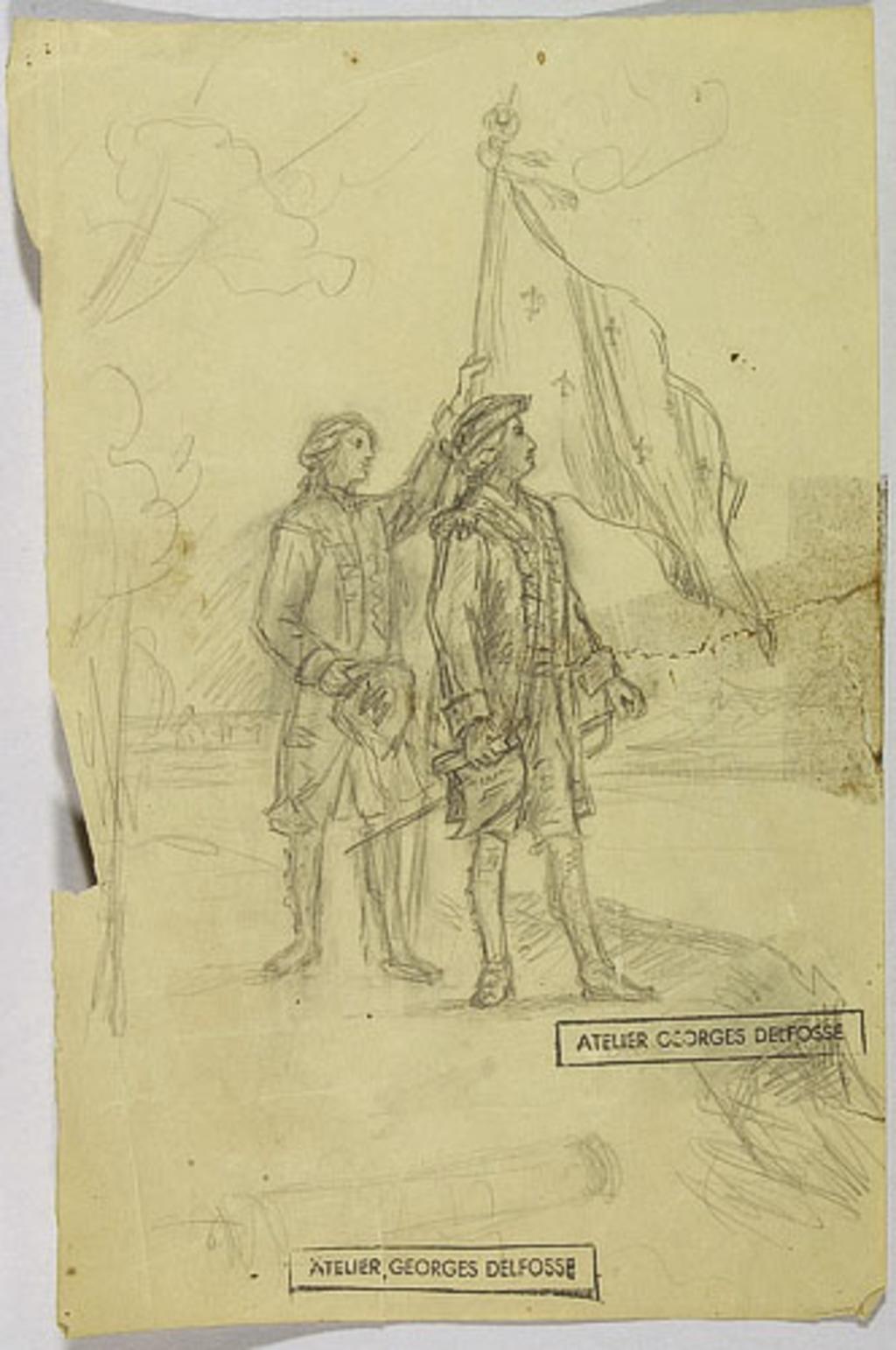 Étude pour « Montréal en 1760 »