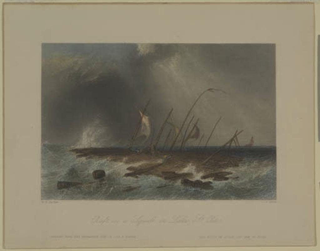 Radeau dans une bourrasque sur le lac Saint-Pierre, extrait du Canadian Scenery Illustrated, vol. I