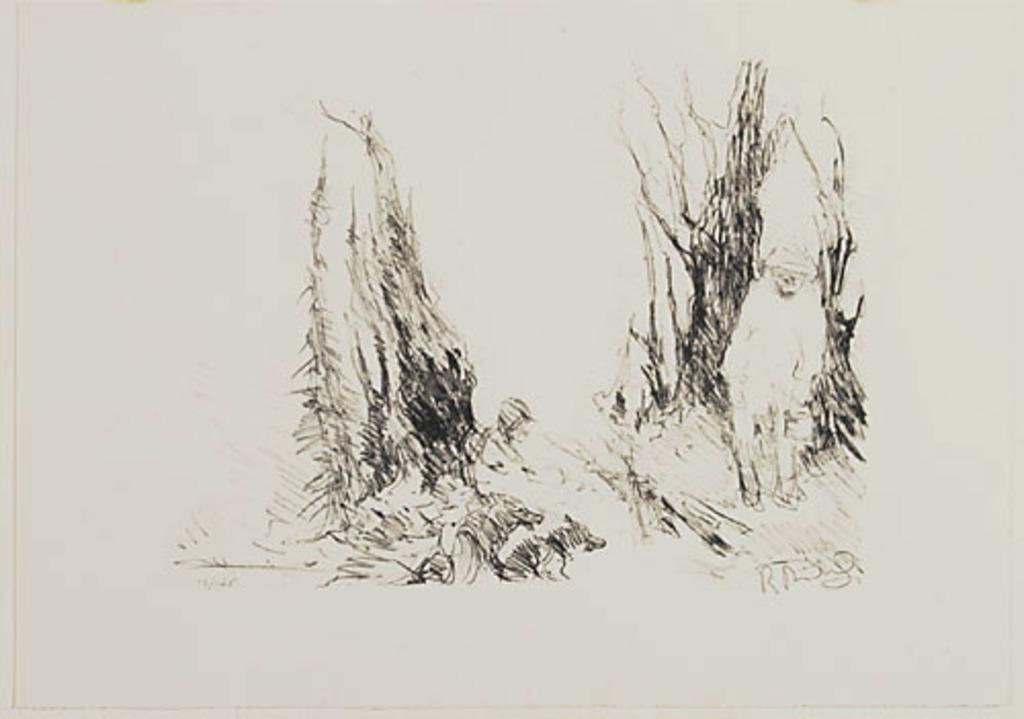La Halte des trappeurs, du livre d'artiste «René Richard»