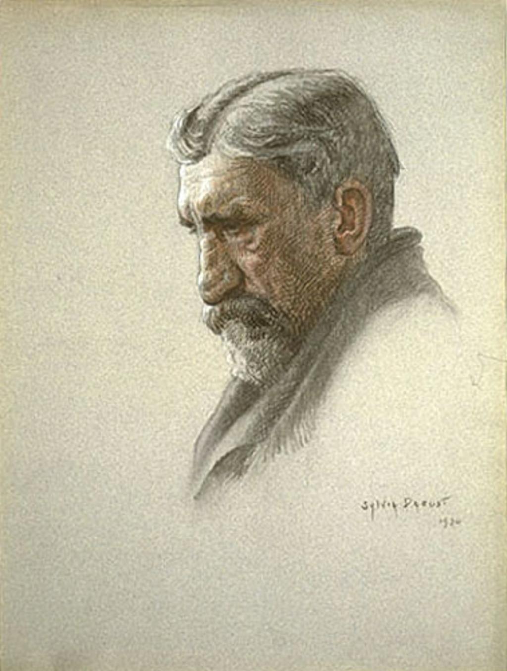 Portrait d'homme âgé de profil