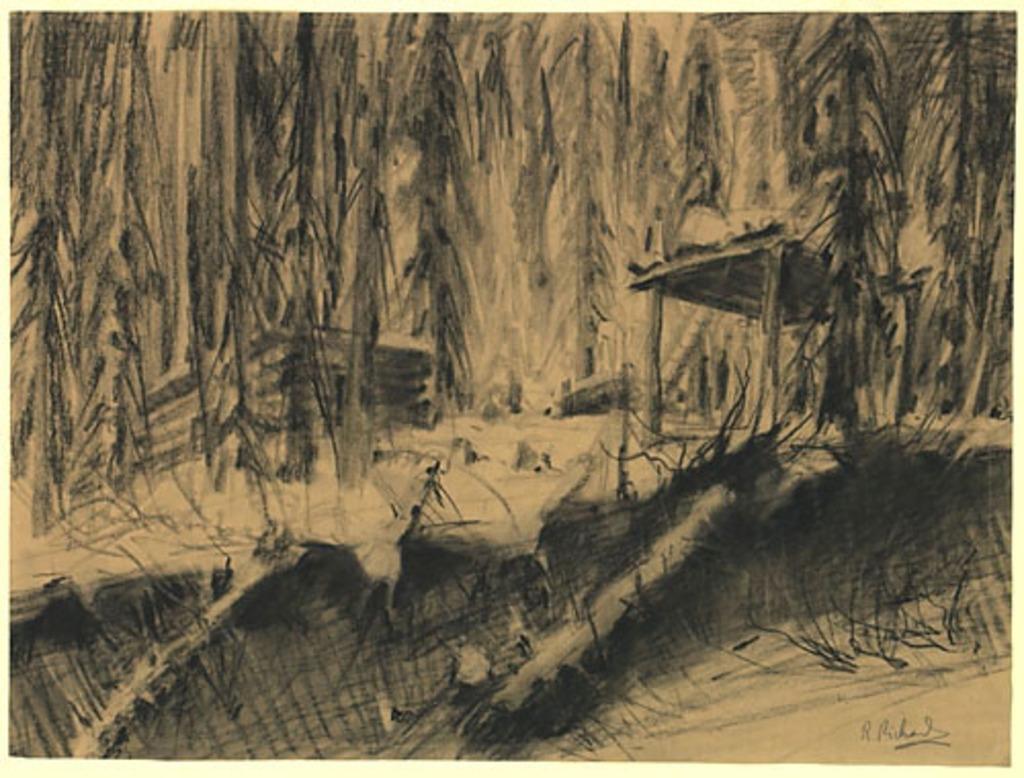 Camp de trappeur dans le Bas McKenzie, Territoires du Nord