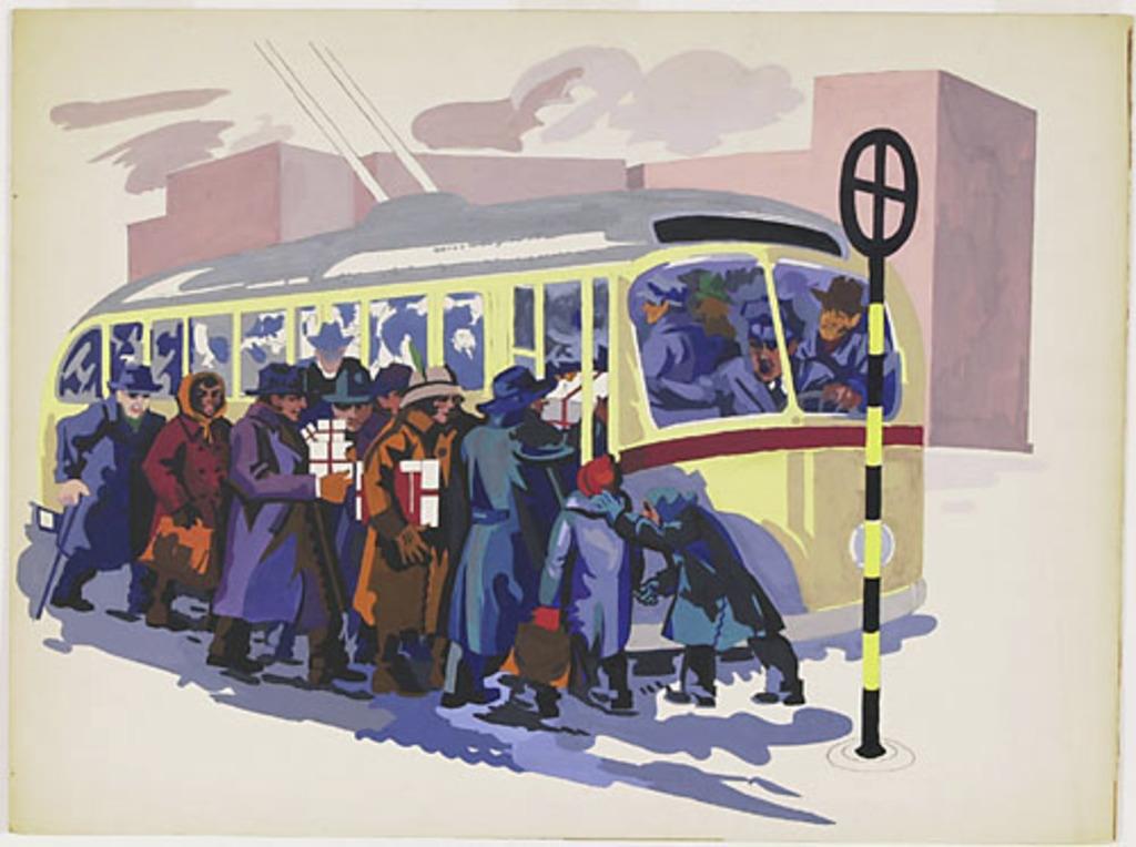 Arrêt de trolley bus