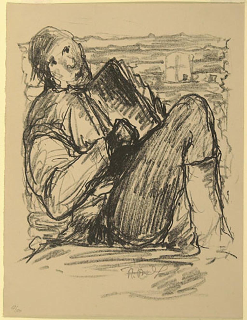 L'Accordéoniste, du livre d'artiste «La Montagne secrète»