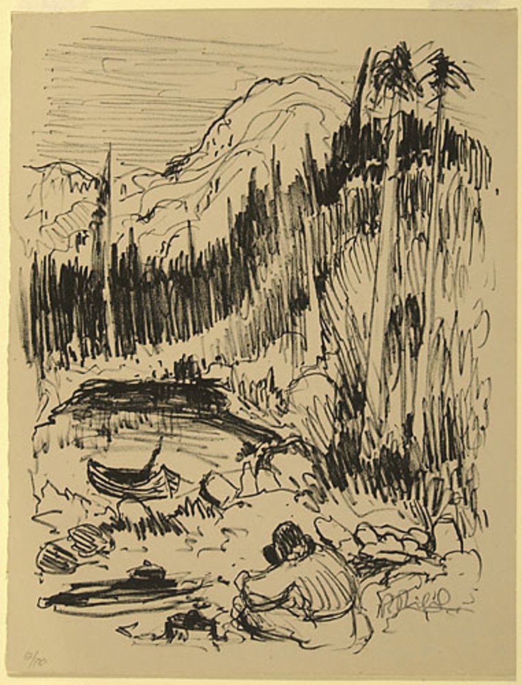 Le Repas du trappeur, du livre d'artiste «La Montagne secrète»