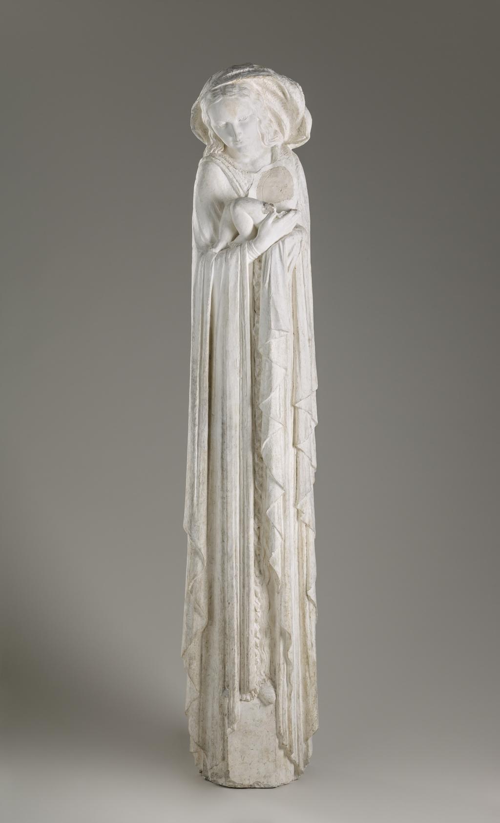 Vierge à l'Enfant, modèle du « Monument funéraire de Noah Anthony Timmins » au cimetière Notre-Dame-des-Neiges, à Montréal (fragment)