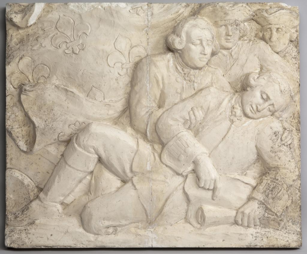 Modèle préparatoire du bas-relief « Montcalm »
