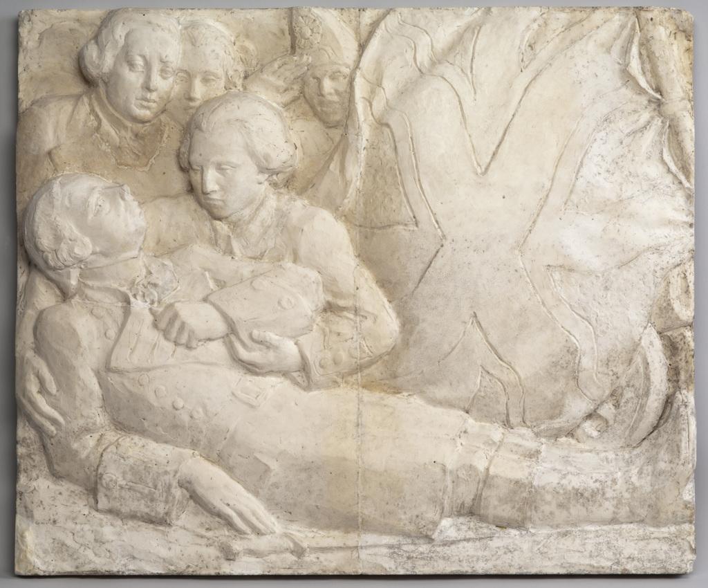 Modèle préparatoire du bas-relief « Wolfe »