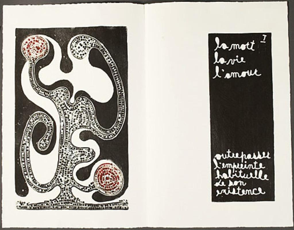 Sans titre, du livre d'artiste «L'Amour, la vie, la mort»