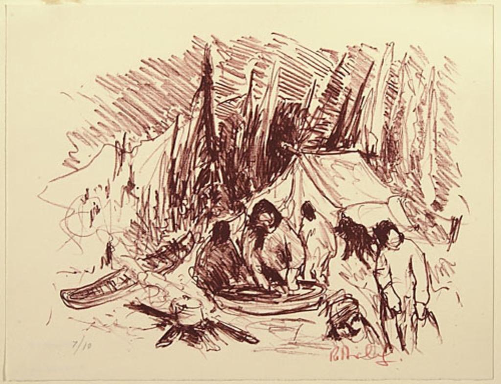 Repos des trappeurs, du livre d'artiste «La Montagne secrète»