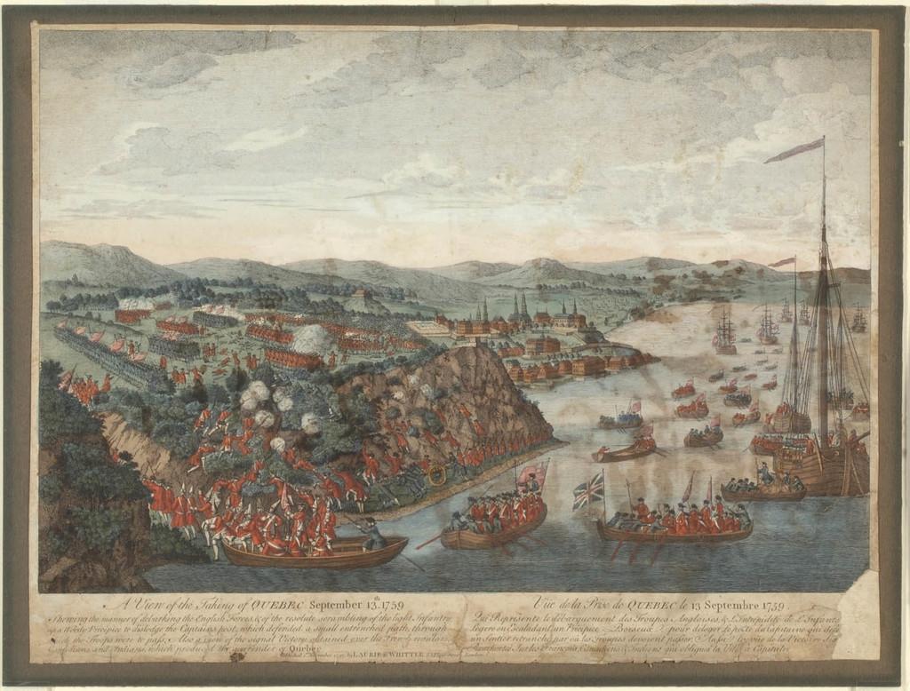 Vue de la prise de Québec, le 13 septembre 1759